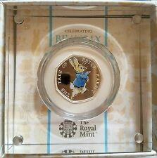 BEATRIX POTTER PETER RABBIT 50P COIN STERLING SILVER PROOF THE ROYAL MINT 2017