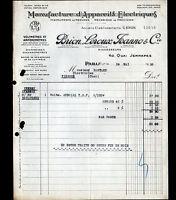 """PARIS (X°) USINE d'INSTRUMENTS de MESURES """"BRION , LEROUX & JEANNO"""" en 1930"""