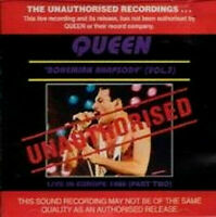 QUEEN Freddie Mercury Brian May Roger Taylor Queen Live Rock Pop rare Import CD