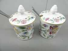 Minton Haddon Hall Fine Bone China jar w.lid and spoon, (2pk bundle)