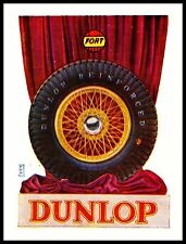 PUBBLICITA' 1931 DUNLOP RUBBER REINFORCED FORT GOMME PNEUMATICI RUOTE AUTO CARS
