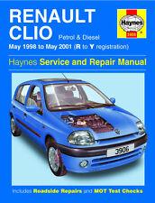 Haynes Manual 3906 Renault Clio 1.2 8v Rl 1.4 Rt 1.6 Rxe 16v expresión 1998-01