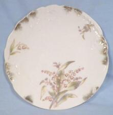 Antique Dessert Plate Lily of the Valley Flowers Porcelain Whiteware