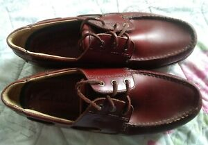 Clarks Active Air BROWN LEATHER DECK Shoe UK 11 G BOAT SHOE worn twice VGC
