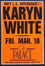 KARYN WHITE Original Boxing Style Promo Concert Poster 1989 Jody Watley Babyface