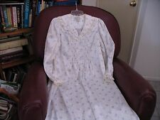 Miss Elaine Brushed back Poly Cotton Long Night Gown Sleepwear Size S