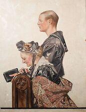 Joseph Christian Leyendecker Oil Painting, Saturday Evening Post Illustration!