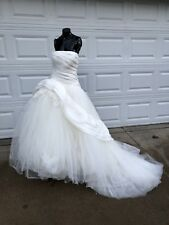 White By Vera Wang Ball Gown Ivory Wedding Dress Sz 10, Style VW351026 GORGEOUS!