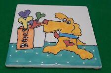 New listing Cats & Dogs & People Too - Debby Carman - Boney Nose Dog Trivet Wall Art