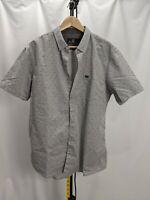 Molokai Surf Co Mens Short Sleeve Button Down Shirt Gray Dots Size XL