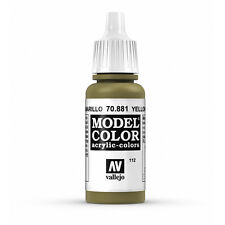 Vallejo Model Color: Yellow Green - VAL70881 Acrylic Paint 17ml Bottle 112