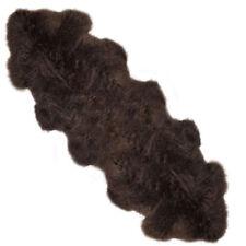 Super Taille L Mink marron foncé vrai Tapis en peau de mouton ORIGINAL cachette