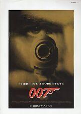 "2002 Vintage JAMES BOND 007 ""GOLDENEYE"" GUN BARREL US MINI POSTER ART Lithograph"