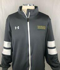 Under Armour Loose Mens Xl Siena College Basketball Full Zip Sweatshirt Gray