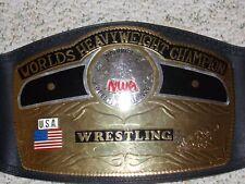 NWA WORLD HEAVYWEIGHT CHAMPIONSHIP METAL ADULT REPLICA WRESTLING TITLE BELT wwe