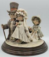 Giuseppe Armani Bride & Groom Child's Play Figurine Flower Girl 1982 Capodimonte