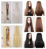 Women's Straight Long Cosplay Party Wigs Brown/Black/Blonde Heat Resistant Hair