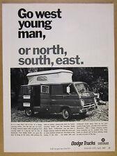 1968 Dodge Camping-Combo Camper Van pop-up roof photo vintage print Ad