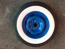 "14"" Wheels Wide White wall Tire inserts trim set Fit- Hot Rod Custom car truck"