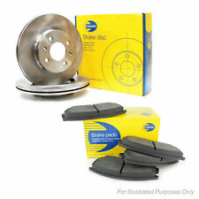 Fits Mitsubishi L200 Genuine Comline 6 Stud Front Vented Brake Disc & Pad Kit