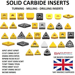 Carbide Inserts Milling Turning and Drilling - Brand New Engineering lathe tools