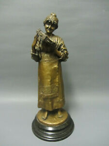 Alte Bronze Skulptur von Franz Iffland  1862 - 1935 Berlin um 1900