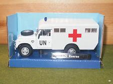 Cararama Land Rover LWB in White UN Rescue 1/43rd Scale