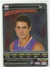 2006 AFL TEAMCOACH SILVER WESTERN BULLDOGS DANIEL GIANSIRACUSA # S36 SILVER CARD