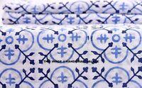 Indian Tribal bohemian Sanganeri cotton fabric hand block print fabric 2.5 Yard