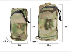 Tactical Molle Bag Backpack Shoulder Strap Phone Pouch Pocket Outdoor Hunting