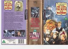 THE LION THE WITCH AND THE WARDROBE  X 2 VIDEOS VHS PAL VIDEO~ A VERY RARE FIND