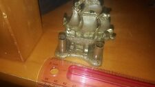 SOLID BRASS CLIPPER SHIP INK WELL? PEN HOLDER? LOOK NAUTICAL DECOR