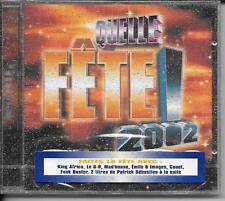 CD COMPIL 21 TITRES--QUELLE FETE 2002--SEBASTIEN/MAD HOUSE/IMAGES/MONTAGNE--NEUF