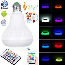E27 Wireless Bluetooth Music Audio Speaker LED RGB Smart Bulb Light Lamp Remote