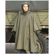 Waterproof Hooded US-Army Style RipStop Festival Rain Military Army Poncho Green