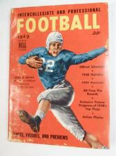 Vintage 1949 Dell Intercollegiate and Professional Football Book Free Shipping