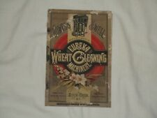 Howes & Well Manufacturers of Eureka Wheat Cleaning Machinery  Catalog
