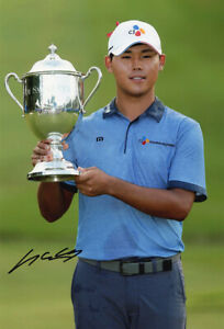 Si Woo Kim, South Korean golfer, PGA Tour, signed 12x8 inch photo. COA.