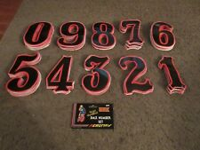Old School BMX RED/BLACK AEROMAX NOS Number Plate Sticker mongoose gt hutch pk