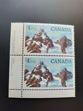 CANADA #934 $1.00 1984 Glacier Nat'l Park Partial PB of 2 Mint Never Hinged