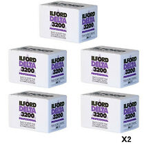10 Rolls Ilford Delta 3200 36 Exposure Pro Black & White Print 35mm Film