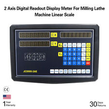 2 Axis Digital Readout Display Meter For Milling Lathe Machine Linear Scale