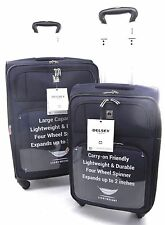 "NEW Delsey Optica Luggage  25"" & 21"" Expandable Spinner Trolley Set - Purple"