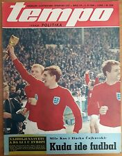 SPORTS MAGAZINE TEMPO 1968 - ENGLAND TEAM 1966 COVER, EURO CUP 1968 ANNOUNCEMENT