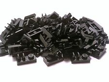LEGO / 80 NEW BLACK 1X2 PLATE w/ TOP CLIP ( Technic, Mindstorms ) # 92280