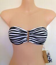 NWT Zimmermann Swim Wide Link Bra Bikini Top Wide Stripe Size 0 (L37)