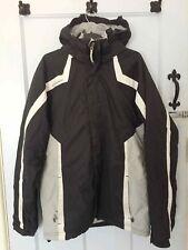 ❤ QUECHUA Age 14 Boys Grey Black Padded Detachable Hood Warm Winter Ski Jacket