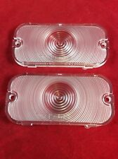 NEW 1966-1968 EARLY FORD BRONCO CLEAR FRONT PARKING / TURN SIGNAL LIGHT LENS SET