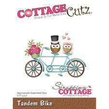 Love Owl Tandem Bike Die Steel Craft Die Cutting Dies COTTAGE CUTZ CC325 New