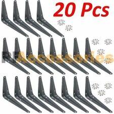 "20 Pcs Heavy Duty 5"" x 6"" inch Metal Shelf Brackets Grey Book Contertop Support"